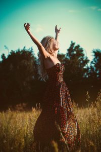 freedom, girl, dress