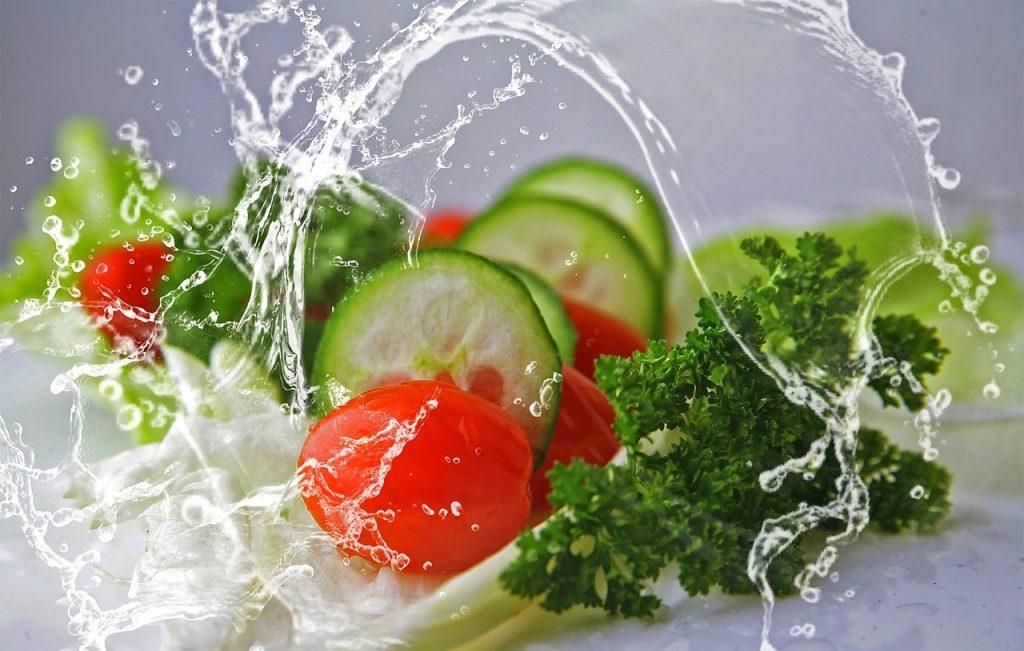 eat, salad, cucumbers