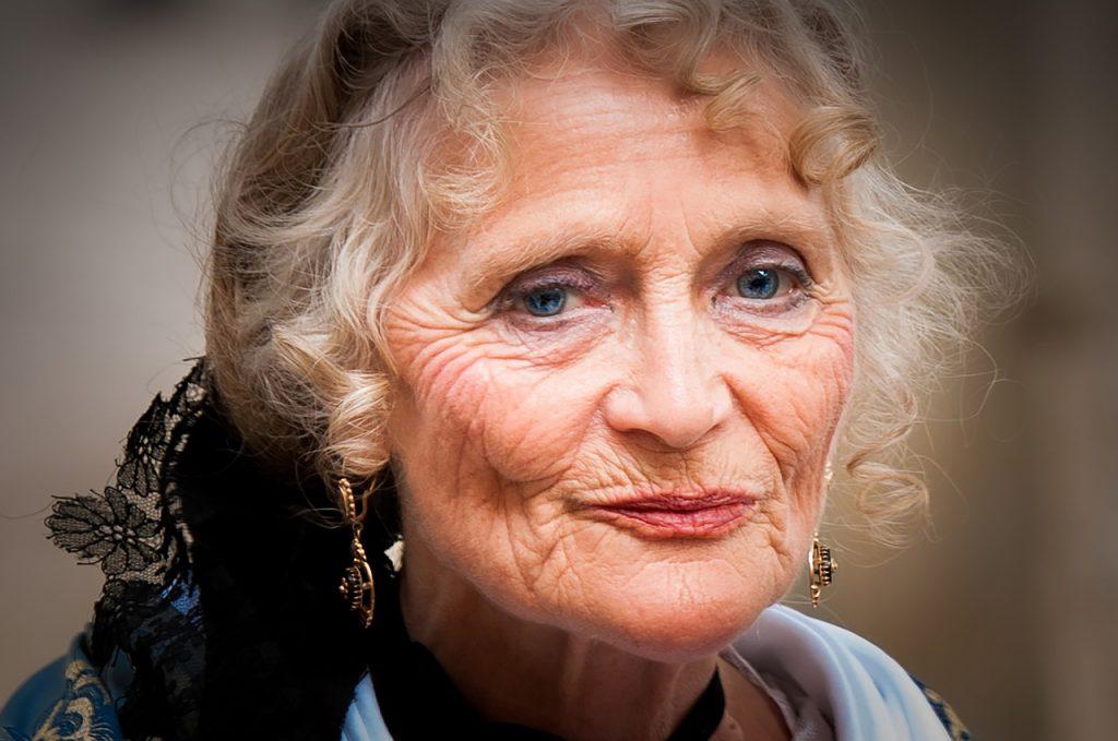 portrait, elderly person, old