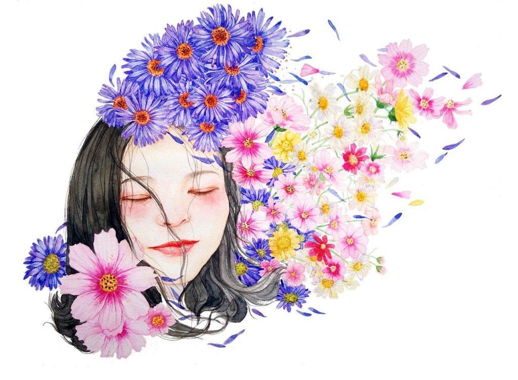 watercolor, portrait, character