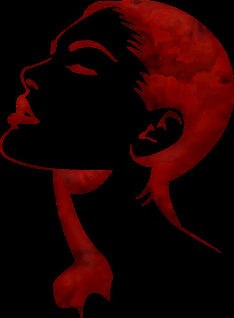 woman's face, watercolor pin up, retro