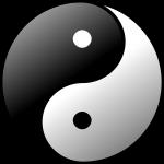 yin yang, sign, symbol